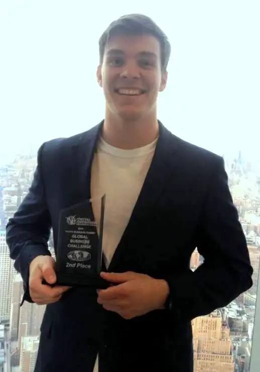 Northwood student John Dunning on the 100th floor of the One World Trade Center