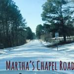 snow Martha's Chapel Road