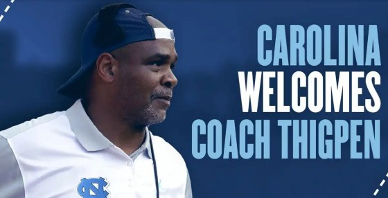 UNC welcomes coach Tommy Thigpen