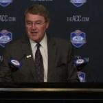 ACC commissioner John Swofford at Charlotte press conference