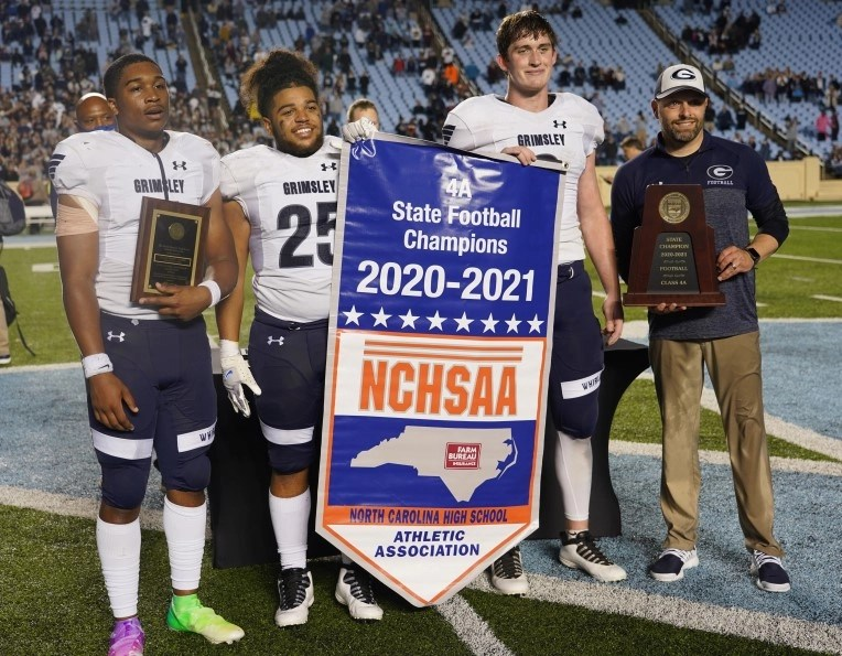 Grimsley overpowers Cardinal Gibbons in 4A football championship game, 28-8