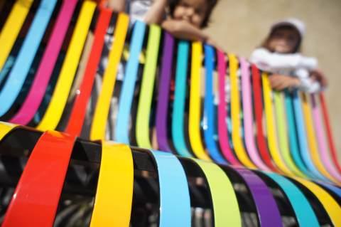 Banc multicolore