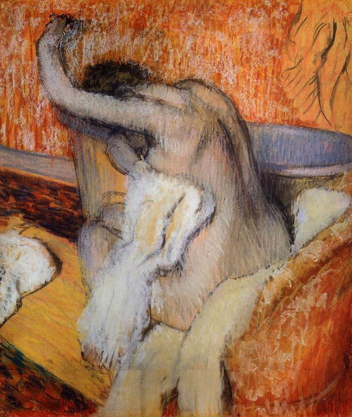 theartforger - degas-woman-drying-herself