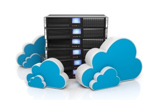 Servers and cloud icons