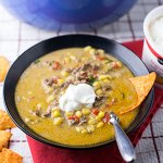 Taco Corn Chowder with Cheese