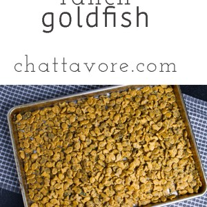 Ranch Goldfish crackers are like ranch oyster crackers....only better. They are a perfect snack for a holiday party!   recipe from Chattavore.com