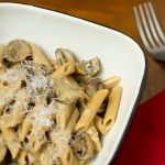 Penne with Mushrooms and Whiskey Cream Sauce