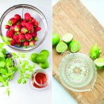 Strawberry Popsicles with Lime & Herbs