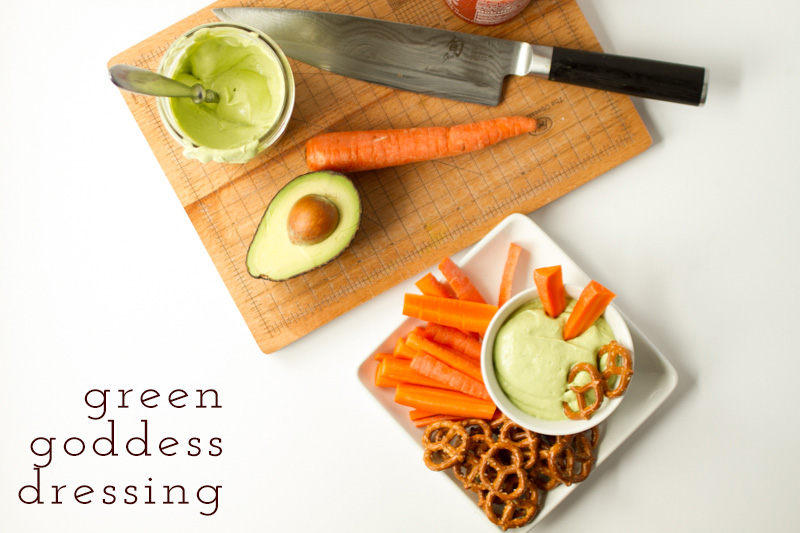 This is an easy homemade mayonnaise recipe (no whisking!)...and this green goddess dressing made with avocado is positively addictive! | recipe from Chattavore.com