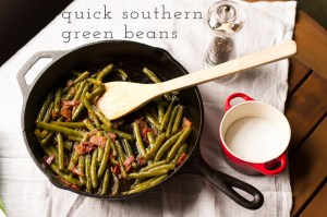 quick southern green beans // chattavore