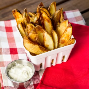 oven fried potato wedges // chattavore