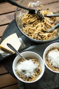 pasta with mushrooms | chattavore
