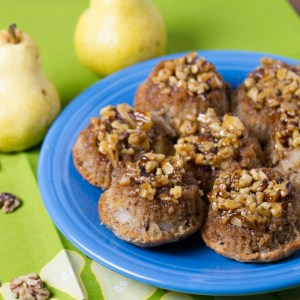 sticky pear-walnut muffins | chattavore