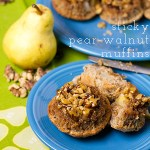 Sticky Pear and Walnut Muffins