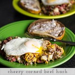 Cheesy Corned Beef Hash (Leftovers)