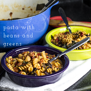 pasta with beans and swiss chard | chattavore