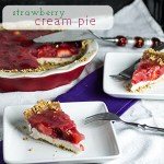 Strawberry Cream Pie with Pretzel Crust