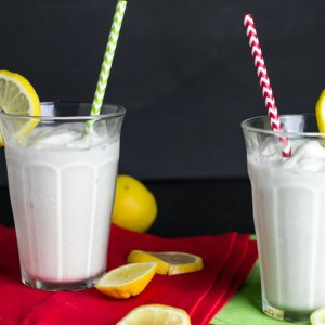 This frosted lemonade is a delicious copycat of Chick-fil-a's treat, made from scratch!   chattavore.com