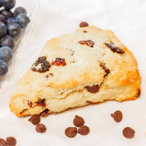 These dark chocolate blueberry scones are a delicious way to use up ripe summer blueberries   by plating pixels for chattavore