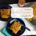 Baked Buffalo Chicken Spaghetti