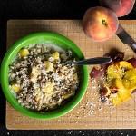 Coconut and Peach Oatmeal