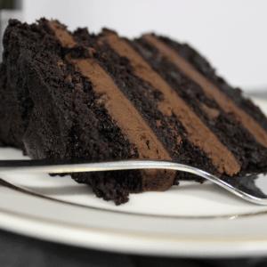 Vegan chocolate on chocolate cake by Loveletter Cake Shop on Chattavore | chattavore.com