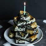 Mint Cookie Cheesecake Bars