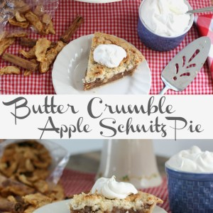 Butter Crumble Apple Schnitz Pie from Served Up With Love