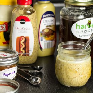 This honey mustard dipping sauce is quick and simple to make and just as delicious - if not more delicious than - any store bought honey mustard! | chattavore.com