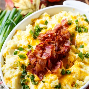 loaded mashed potato casserole from Spicy Southern Kitchen