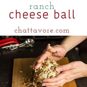 Cheddar bacon ranch cheese ball is easy to make and so addictive you'll be asked to bring it to every party you go to!   chattavore.com