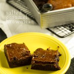Caramel Brownies with Flaky Sea Salt