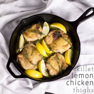 Lemon and chicken go together like peanut butter and jelly. These lemon chicken thighs are so tasty and incredibly easy to make, which makes them perfect for a quick weeknight dinner! | recipe from Chattavore