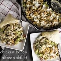 Chicken Bacon Alfredo Pasta Skillet