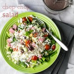 Chop Chop Salad with Creamy Kalamata Dressing