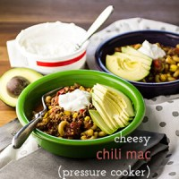Cheesy Chili Mac (Pressure Cooker/Instant Pot)