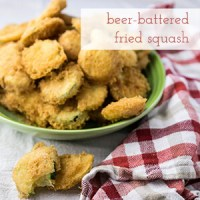 Beer battered zucchini and yellow squash is my shout-out to the beer-battered okra at Café on the Corner. It's an update on a Southern classic!   recipe from Chattavore.com