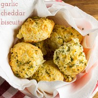 You can buy a mix to make garlic cheddar biscuits at home, but with this recipe you won't need to leave your house for great biscuits!   recipe from Chattavore.com