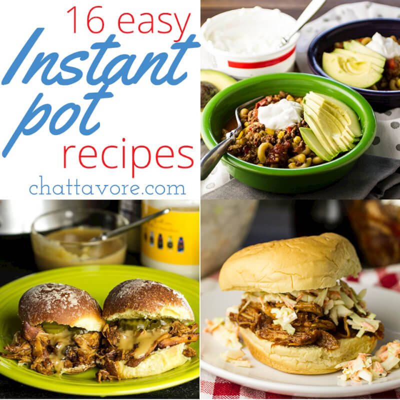 It's time for back to school, and these easy Instant Pot recipes will help you get a delicious, hot dinner on the table for your family without a headache! | recipe round-up from Chattavore.com