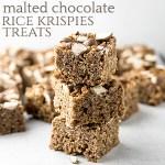 Malted Chocolate Rice Krispie Treats