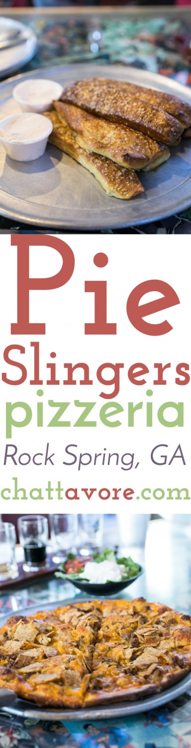 Located in Rock Spring, Georgia, near the Chickamauga Battlefield, Pie Slingers Pizzeria serves hand-tossed pizza and beer brewed in house by Phantom Horse Brewery. | restaurant review from Chattavore.com