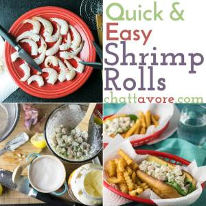 If you've ever been intimidated by the idea of cooking seafood, try these quick and easy shrimp rolls - you might just change your mind! | recipe from Chattavore.com