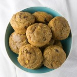 Banana-Pumpkin-Chocolate Chip Muffins
