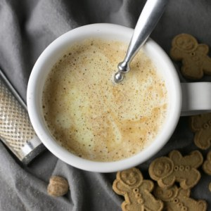 This eggnog latte is just as good as what you get in a coffee shop, and you don't have to get out of your PJs. No milk frother required! | recipe from Chattavore.com