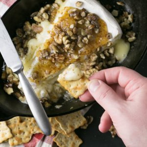If you need an appetizer that is special but OH SO EASY and versatile, baked brie with Jezebel sauce is perfect and has a little Southern flair! | Recipe from Chattavore.com