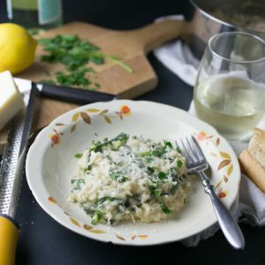 What do you do when you don't have a dinner plan? This creamy lemon spinach risotto is easy and delicious, and it's quicker than pizza delivery!   recipe from Chattavore.com