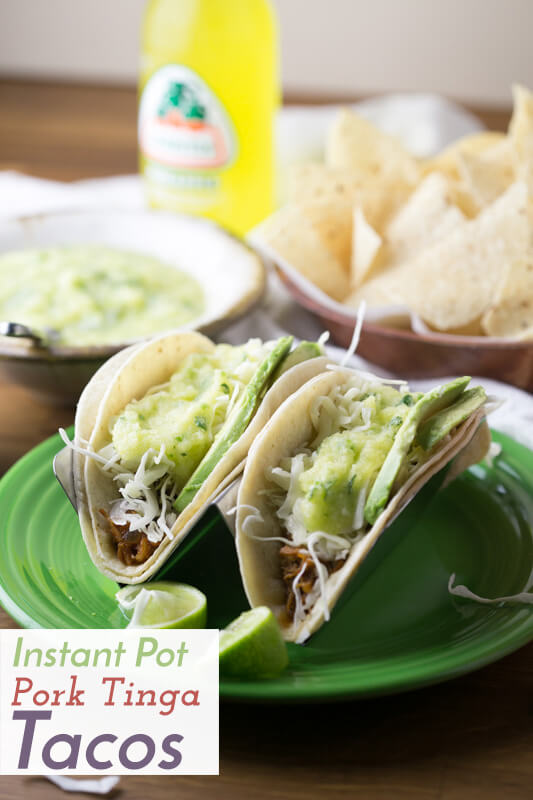 These Instant Pot pork tinga tacos are easy and so tasty! The Instant Pot does most of the work so you can get something else done while it cooks! | Recipe from Chattavore.com