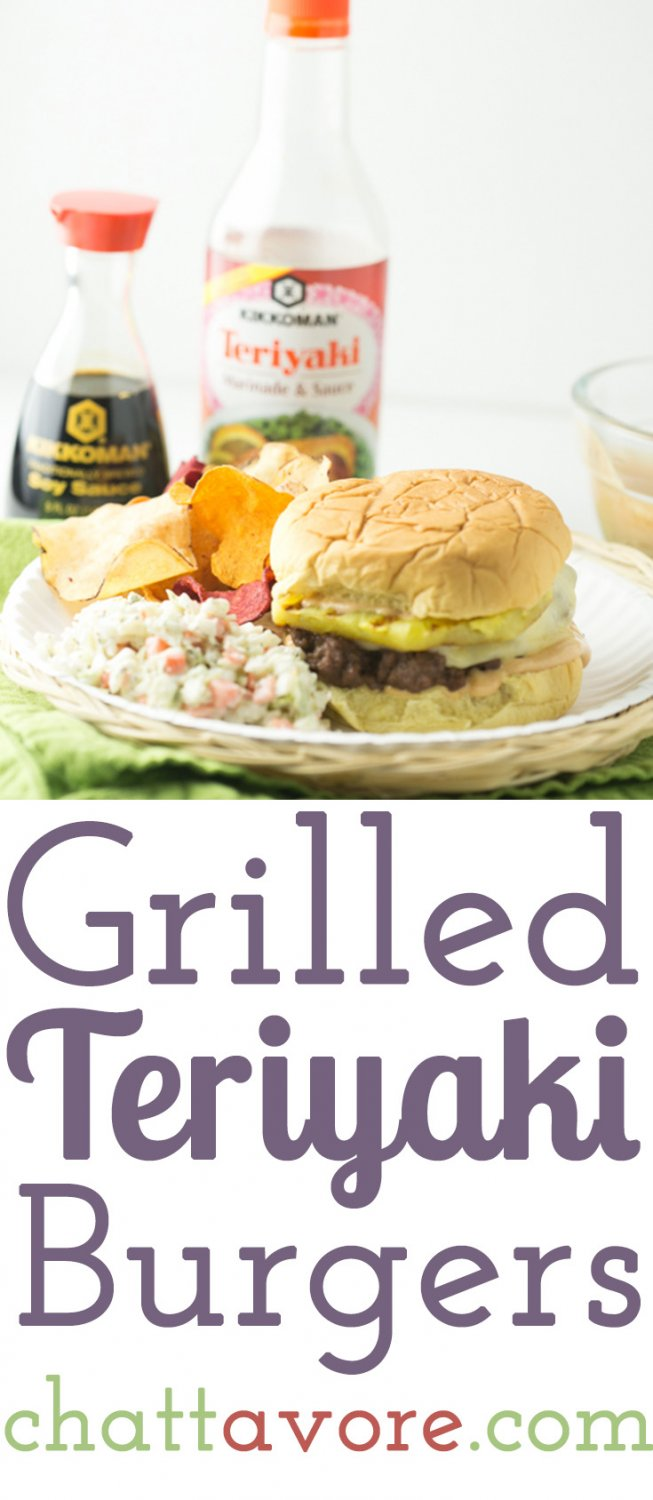 This grilled teriyaki burger with pineapple and white sauce is a delicious way to celebrate Memorial Day weekend! #KickinItWithKikkoman #CollectiveBias #Ad | Recipe from Chattavore.com