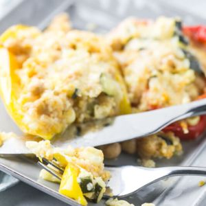 Vegetarian Instant Pot stuffed peppers are a delicious and easy vegetarian dinner. Slow cooker and oven directions included! | Recipe from Chattavore.com