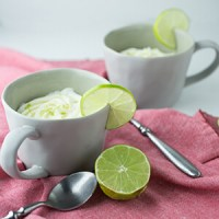 This easy mug cake with lime is topped with a decadent cream cheese icing and comes together with less than ten minutes of actual work! | Recipe from Chattavore.com